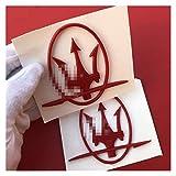Stemmi e decorazioni per auto Adesivi per auto Side Badge Emblem Compatibile con Maserati Reloj Levante Granturzio Ghibli Quattroporte Ropa Coche GT Gran Cabrio Accessori Adesivo per auto