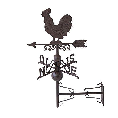 アンティーク調ブラケットサイン 風見鶏 重厚感のあるアイアン製