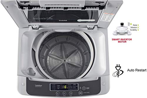 LG 6.5 Kg 5 Star Smart Inverter Fully-Automatic Top Loading Washing Machine (T65SKSF4Z, Middle Free Silver) 4
