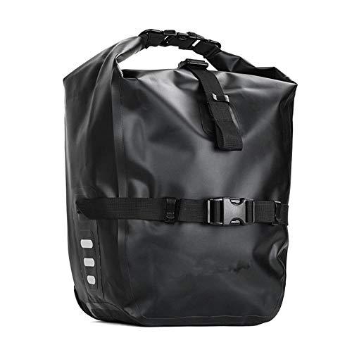 Bolsas de bicicleta para portabicicletas trasero, bolsa impermeable para bicicleta, bolsa trasera de 20 l, impermeable, multifunción, Mtb, carretera, bicicleta, bolsa de hombro, bolsa de hombro, bolsa para asiento trasero, 1 unidad