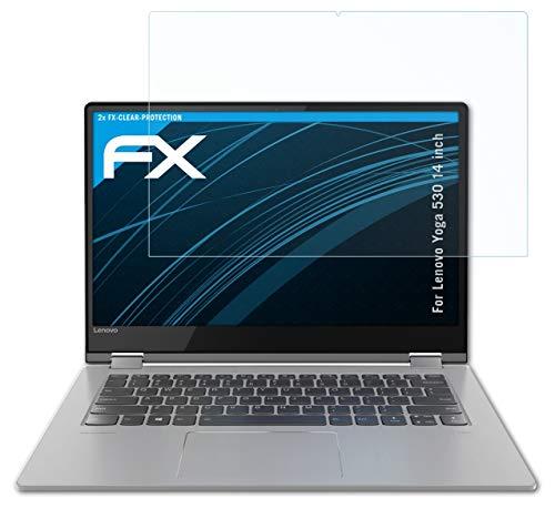 atFolix Schutzfolie kompatibel mit Lenovo Yoga 530 14 inch Folie, ultraklare FX Bildschirmschutzfolie (2X)