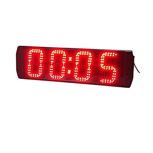 Busirsiz Retro Relojes de Alarma del Reloj de Pared Grande LED Digital Entrenamiento de intervalo del Temporizador Temporizador de Cuenta atrás Cronómetro Gimnasio electrónicos (Color: Negro, Tamaño: