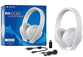 Sony Sony-CUHYA-0080-AMZ1 Playstation Gold Wireless Headset 7.1 Surround Sound PS4 New Version 2018, White Edition (Renewed)