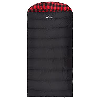 Teton Sports Celsius XXL -18C/0F Sleeping Bag; 0 Degree Sleeping Bag Great for Cold Weather Camping; Lightweight Sleeping Bag; Hiking, Camping; Black, Left Zip