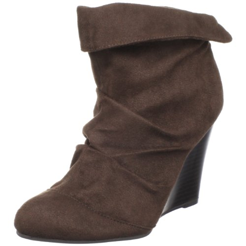 Unlisted Women's Map It Out Bootie,Dark Brown,6 M US