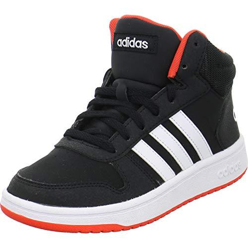 Adidas Unisex-Kinder HOOPS MID 2.0 K Fitnessschuhe Schwarz (Negro 000) 36 2/3 EU