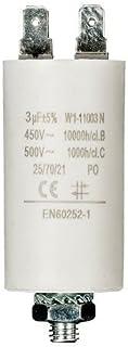 comprar comparacion CABLEPELADO Condensador de arranque para motor electrico 3.0 uF 450 VAC Blanco