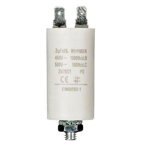 Condensador de arranque para motor electrico 450 VAC (6.0 uF)