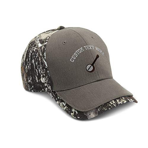Custom Camo Baseball Cap Banjo B Embroidery Cotton Hats for Men & Women Strap Closure Gray Personalized Text Here