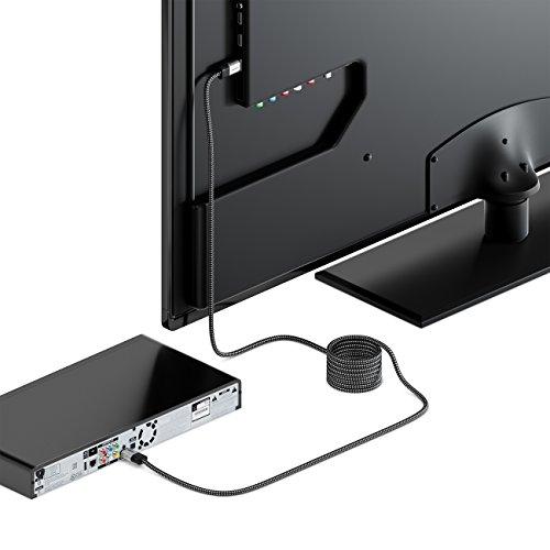 deleyCON 2m HDMI Kabel 2.0 a/b - HDR 10+ UHD 2160p 4K@60Hz 4:4:4 HDR HDCP 2.2 - Metallstecker & Nylonmantel