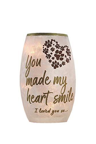 Stony Creek Heavenly Dog Pre-Lit 5.25' Memory Vase, HHD9204 (Loved You So)