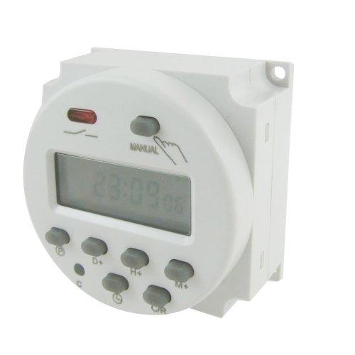 SODIAL(R) 005978 Interruptor de relé de 12 V CC con pantalla LCD, non programable, 16 A
