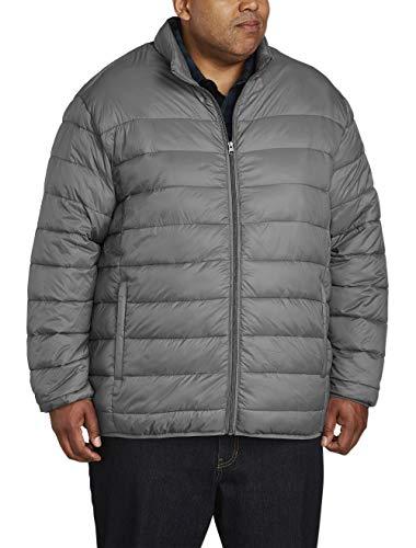 KingSize Men's Big & Tall Fleece-Lined Rain Coat - Tall - 3XL, Black Raincoat