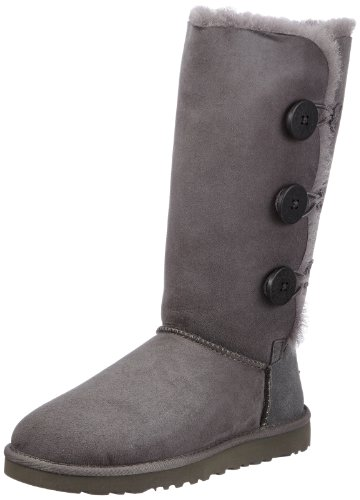 UGG 1873 Bailey Button Triplet, Damen Stiefel, Grau (grey grey), EU 36, (US 5)