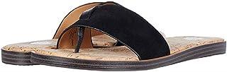 Yellow Box Women's Barann Flat Sandal, Black, 9