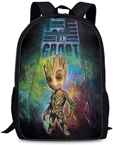 Groot 3d Drucken Rucksack?Groot Rucksack Multifunktion Geeignet für Sport, Reisen und Schule (Groot 8,Kindergarten)