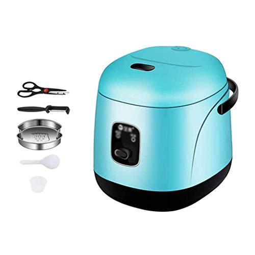 Mini Reiskocher, Elektroherd Hot Pot Eierkocher Stahl Hot Pot Hot Pot Modernisiert, Non-Stick Sauteacute;Pan, Schnelle Nudeln Cooker (Farbe: rot) (Farbe: blau) lalay (Color : Blue)