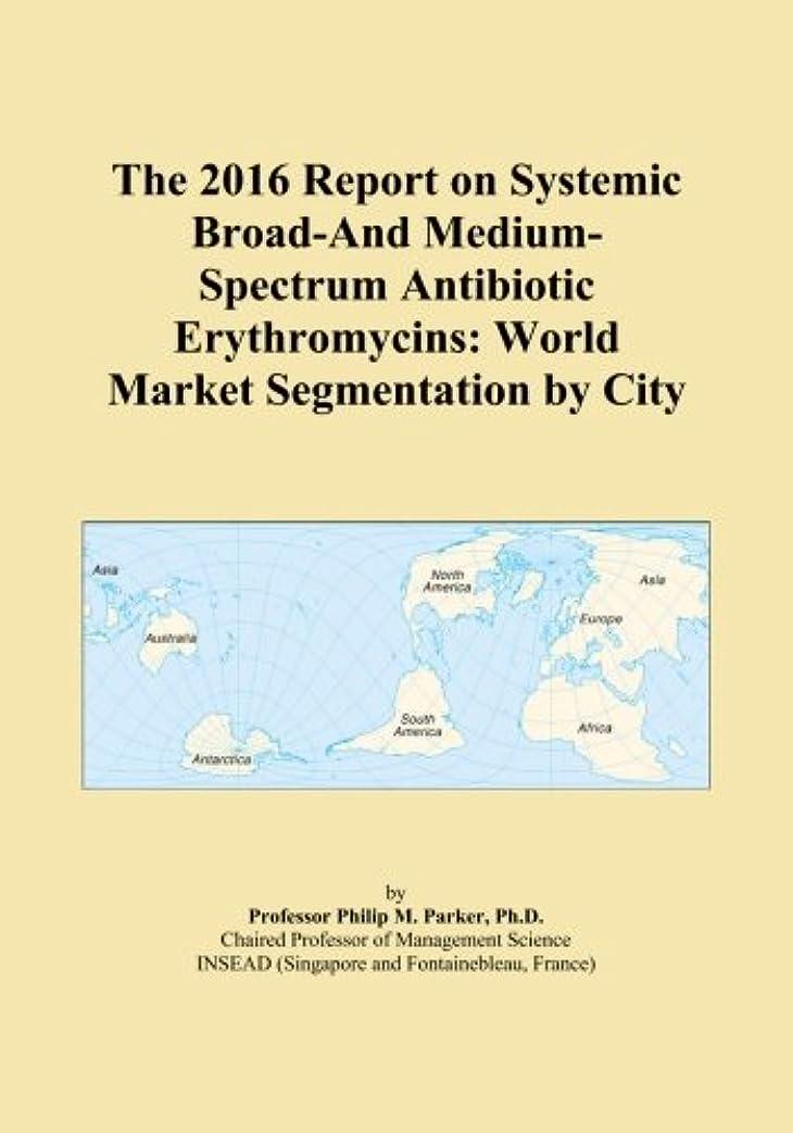 ぼんやりしたについてプットThe 2016 Report on Systemic Broad-And Medium-Spectrum Antibiotic Erythromycins: World Market Segmentation by City