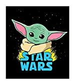 TINDAY DIY Paint by Numbers Kit for Kids Adults Beginner Yoda DIY Canvas Painting by Numbers Star Wars Acrylic Painting for Home Decoration Paint by Numbers Mandalorian 16x20 Inch