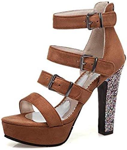 HommesGLTX HommesGLTX Talon Aiguille Talons Hauts Sandales 2019 Chaussures à Talons Plateformes Femme Boucle Zip Chaussures De Bureau D'été Femmes Sandales Gladiateur Grande Taille 44  pour la vente en gros