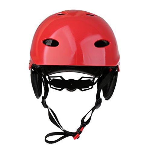 T TOOYFUL Kayak Kanu Helm Für Wassersport Segeln Jollen Skateboard Und Mehr 2 Farben Zur Auswahl - Rot, L
