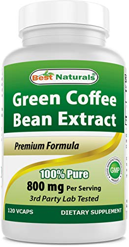 Best Naturals, 100 % Pure Green Coffee Bean Extract, 800 mg per serving, 120 Vcaps