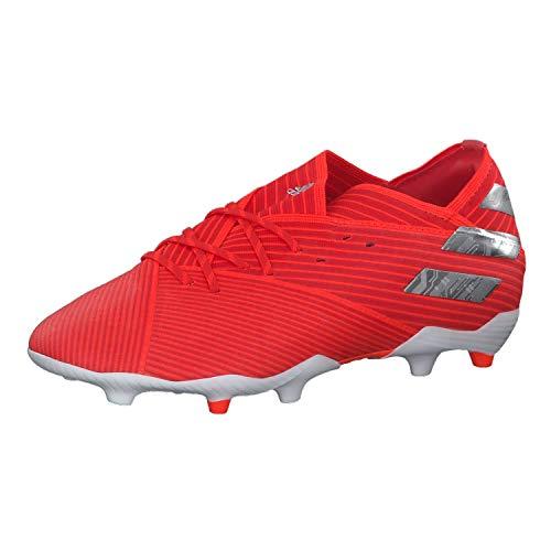 adidas Nemeziz 19.1 FG Niño, Bota de fútbol, Active Red-Silver Metallic-Solar Red, Talla 4 UK (36 2/3 EUR)