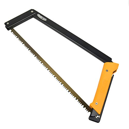 AGAWA - BOREAL21 - 21 Inch Folding Bow Saw - Black Frame, Yellow Handle, 21' All Purpose Blade