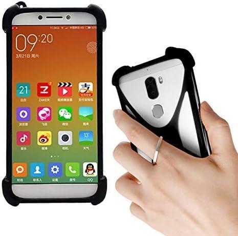 Lankashi Black Stand Ring Holder Soft Silicone Protective Case Cover For Xiaomi Mi2 Mi3 Mi4 product image