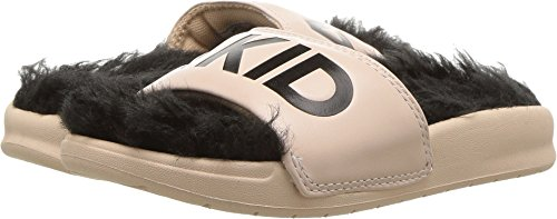 AKID Brand Baby Girl's Aston (Infant/Toddler/Little Kid/Big Kid) Nude/Black Faux Fur Medium M M