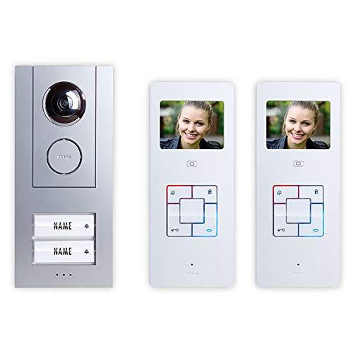Video-Türsprechanlage Kabelgebunden Komplett-Set m-e modern-electronics Vistus VD6320 2 Familienhau