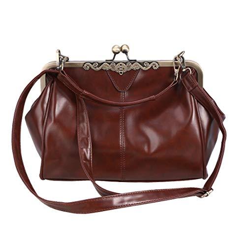 SOIMISS 1 Stück Retro Frauen Umhängetasche Mode Lässig Chic Umhängetasche Pu-Leder Handtasche für Frauen Kaffee