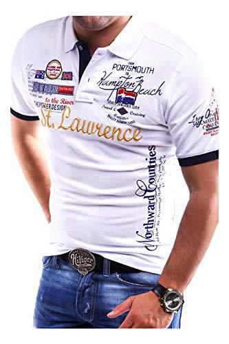 MT Styles Poloshirt Lawrence T-Shirt MP-301 [Weiß, 3XL]