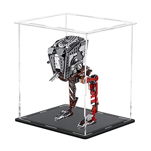 Vitrina de Acrílico para Lego 75254 Star Wars Asaltador AT-ST, Display Case Vitrinas para Colecciones Modelismo (Solo Vitrina)