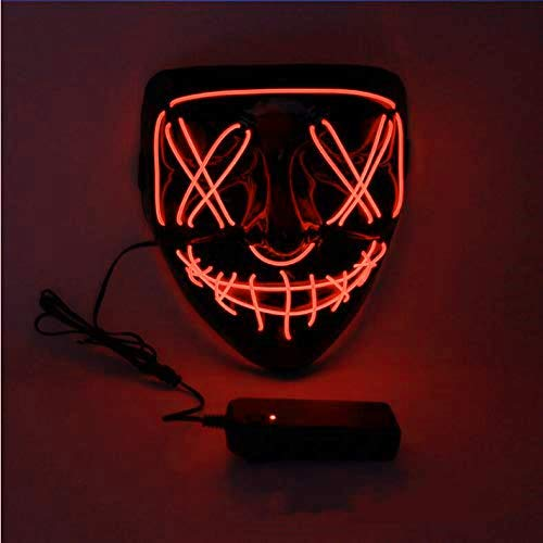 Charlemain Halloween LED Maschere, LED Mask Maschere Halloween, per Halloween Cosplay Feste del Partito Halloween Costume
