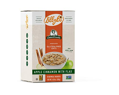 Lilly B's Gluten Free Instant Oatmeal, Apple Cinnamon with Flax, 88.4 Ounce, (Pack of 8)