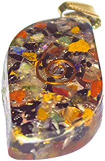 FASHIONZAADI Mix Chakra Orgone Healing Pendant with Copper Coil for Chakra Balancing | EMF Protection | Gemstone Crystals ...