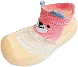 Infant Baby Girls Boys Toddler Shoes Breathable Soft Bottom Bear High Top Socks Sneaker,Lightweight First Walk Shoes
