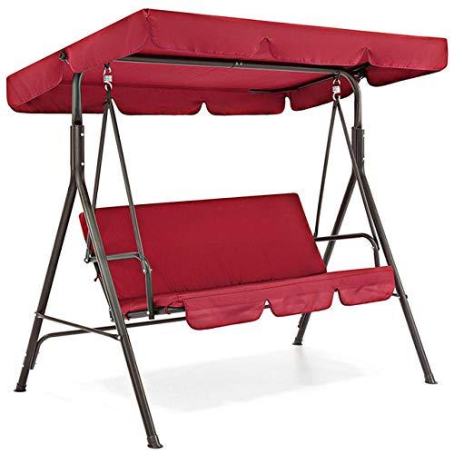 BOOSSONGKANG canapé, Ensemble de Housse de Coussin de siège de baldaquin de 3 Places Swing Chair Patio Swing Chair Hamac de Remplacement Jar