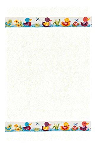 Feiler entchx00100504, Kinderhandtuch, Entchen, 50 x 80 cm, weiß