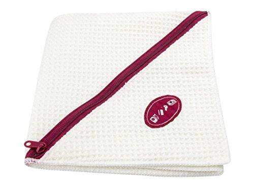 Troika ZWITTABLEDDER - Fitness handdoek - Zip zak voor smartphone, sleutels - wafelstructuur - absorberend - sneldrogend - microvezel - wit origineel