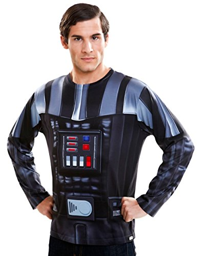 VIVING COSTUMES Viving COSTUMES231003Darth Vader Uomo t-Shirt a Manica Lunga (XL)