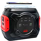 292Wh Portable Power Station, 80000mAh Camping Solar Generator Lithium Battery Power Supply 110V/300W Pure Sine Wave AC Outlet for Outdoors Travel Emergency (Solar Panel Not Included) (Black)