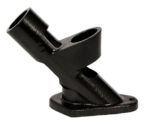 Evergreen Flag Two-Position Cast Iron Black Flag Pole Bracket