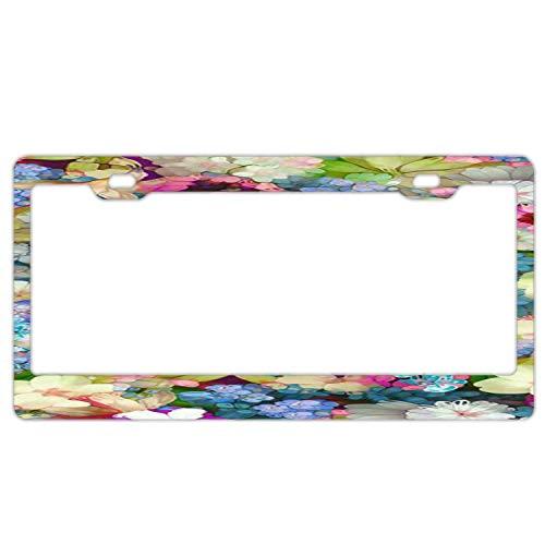 Goedkope Waterdichte Plaat Frame voor Vrouwen, RVS Metalen Plaat Covers Auto Plaat Frame Tag Houder