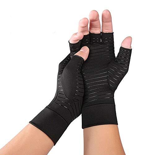 JADE KIT Guantes Sin Dedos, Guantes de Compresión para Artritis Reumatoide para Aliviar el Dolor en el Túnel Carpiano, Tendinitis【Medio】
