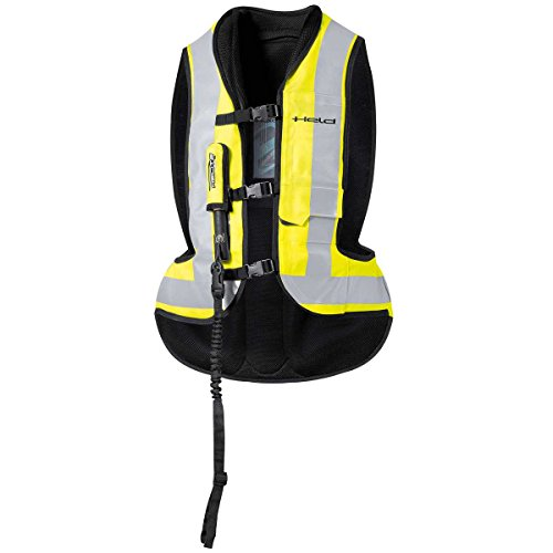 Held Air Bag Weste, Farbe schwarz-Neongelb, Größe L