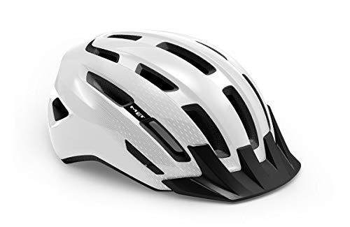 Met Active Downtown Allround - Casco de ciclismo (talla M), color blanco