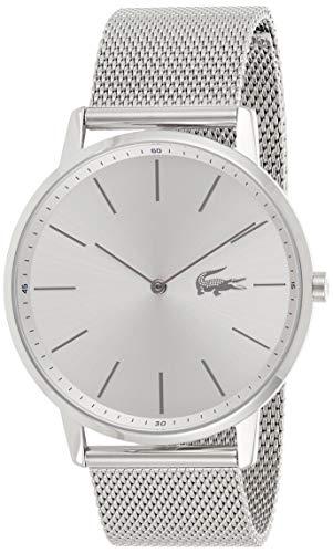 Lacoste Herren Analog Quarz Uhr mit Edelstahl Armband 2011017