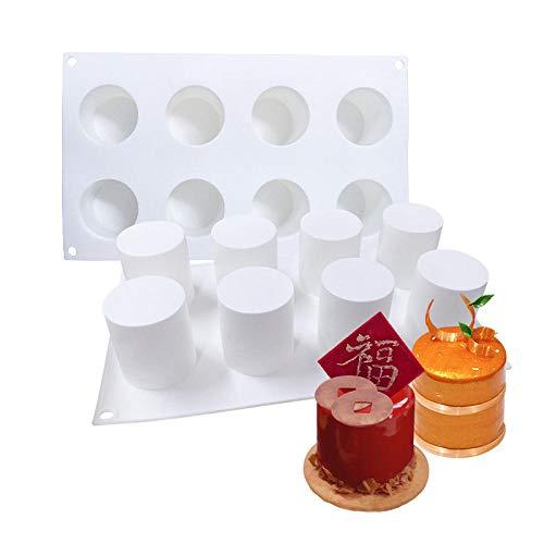 Silikon Backform Form Craft Diy Silikon Backform 8 Loch Zylindrisch Für Backform Dessert Eiswanne Kuchen Dekoration Werkzeuge Backformen